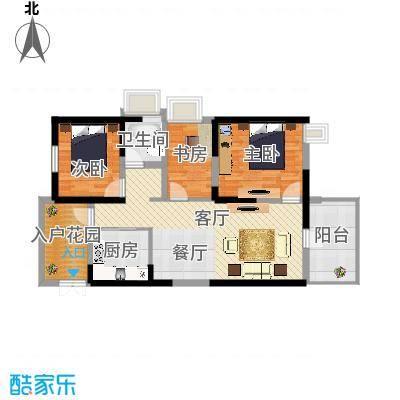 四季风情92.02㎡1II6-2-206户型10室