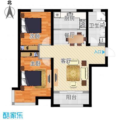 中建御景华庭94.00㎡二期7号楼A户型2室2厅1卫