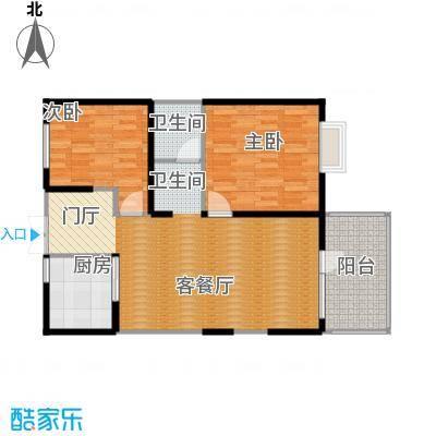 四季风情91.56㎡户型2室2厅1卫