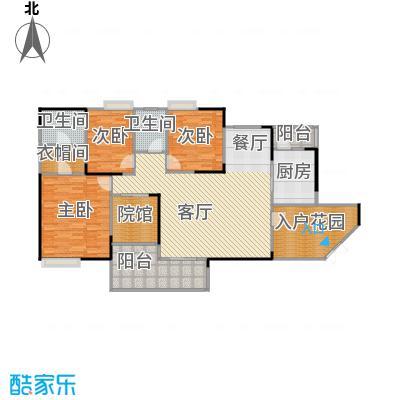 骏逸第一江岸145.86㎡户型3室1厅2卫1厨