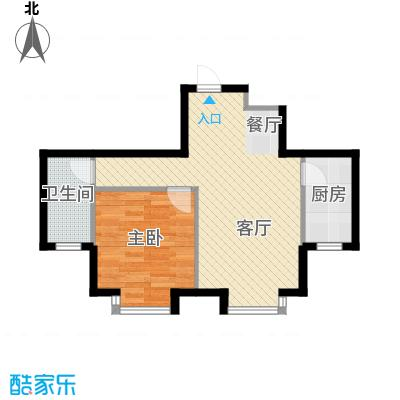 福汇华庭50.55㎡楼层平面图户型10室