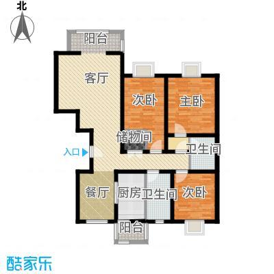 福汇华庭114.88㎡C户型10室