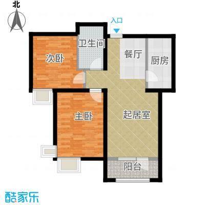 中建御景华庭89.00㎡2A-2户型2室2厅1卫