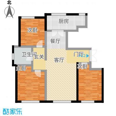 万通生态城新新家园126.37㎡二期A1c户型3室2厅1卫