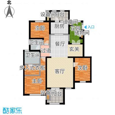 万通生态城新新家园149.00㎡洋房1期5层G5户型3室2厅2卫