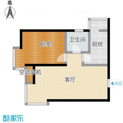 滨海智谛山67.00㎡项目一期10号楼D户型1室1厅1卫