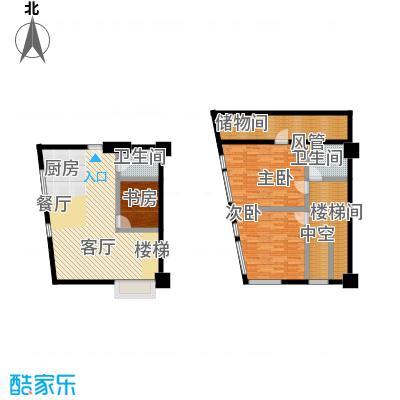 YOHO湾99.00㎡复式D4-8户型3室1厅2卫