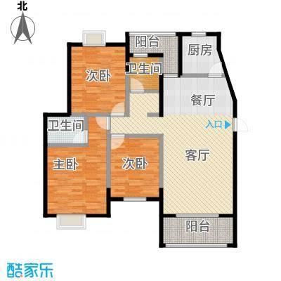 融侨锦城101.60㎡房型户型3室1厅2卫1厨