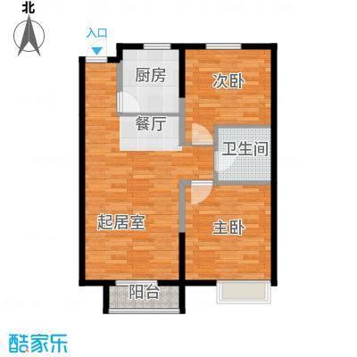 四季风情88.29㎡9号楼B-2'户型2室2厅1卫