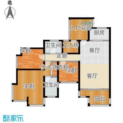 骏逸第一江岸126.85㎡户型3室1厅2卫1厨