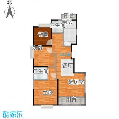 西港国际花园85.18㎡C一梯两户南北通透纯板式户型3室2卫1厨