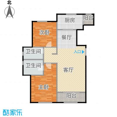 万通生态城新新家园121.12㎡二期B1a户型2室2厅2卫