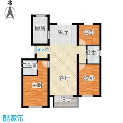 首创红树湾133.00㎡B户型3室2厅2卫