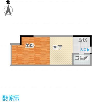 融汇新时代24.54㎡房型户型1室1卫