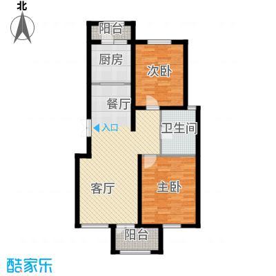 万通生态城新新家园105.57㎡二期A2c户型2室2厅1卫