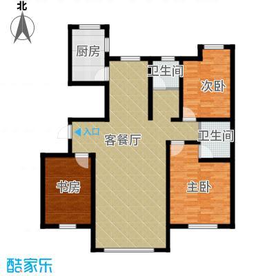 听涛苑135.00㎡D户型3室2厅2卫