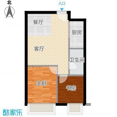 YOHO湾91.00㎡平层D4G-2户型2室1厅1卫