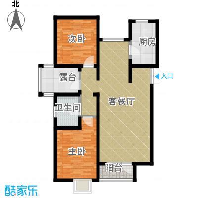 公园六号90.00㎡A1平面图奇数层-银角户型10室