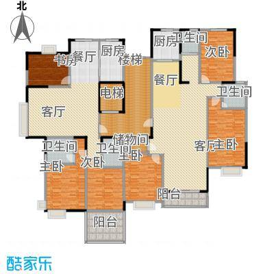 山语银城136.72㎡L系列户型6室2厅4卫2厨