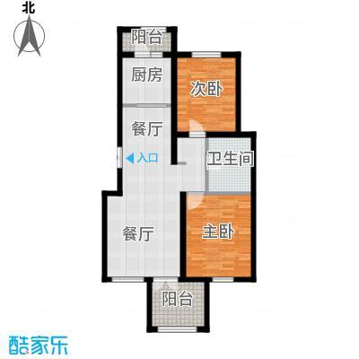 万通生态城新新家园108.89㎡二期A2a户型2室2厅1卫