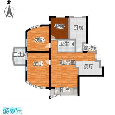 世纪金三角公寓118.48㎡户型10室