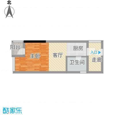 兰亭优壳38.00㎡户型1室1卫