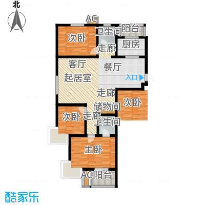 峰尚花园151.25㎡三室两厅两卫户型3室2厅2卫