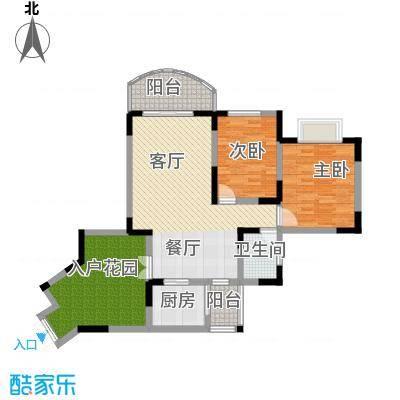 天骄年华76.91㎡房型户型2室1厅1卫1厨