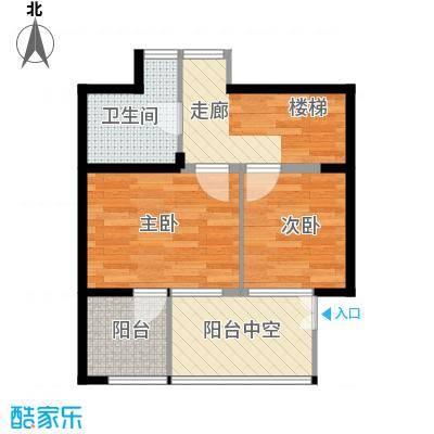 公园六号50.00㎡平面图户型10室