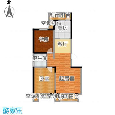 津滨藏锦107.00㎡2-M户型2室2厅1卫