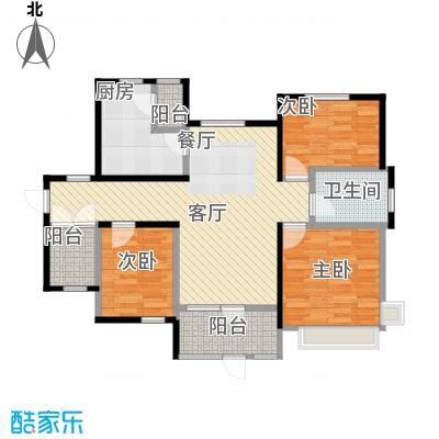 首玺123.85㎡A5户型3室2厅1卫