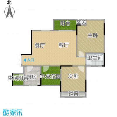 中凯翠海朗园88.07㎡户型2室1厅1卫1厨