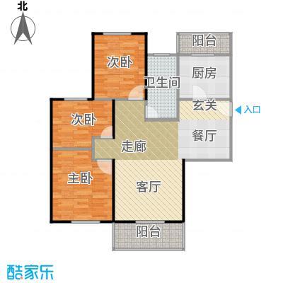 福汇华庭84.66㎡F户型10室