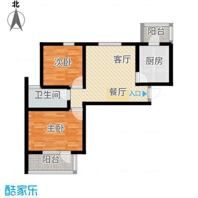 峰尚花园66.04㎡户型10室