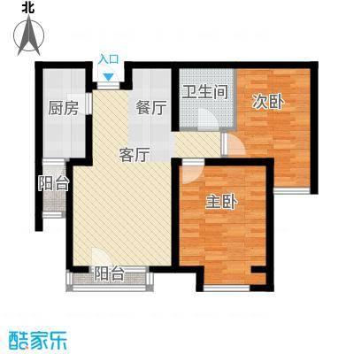 弘泽城90.00㎡3、4号楼标准层90户型2室2厅1卫