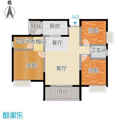 中凯翠海朗园96.11㎡--26套户型3室1厅2卫1厨