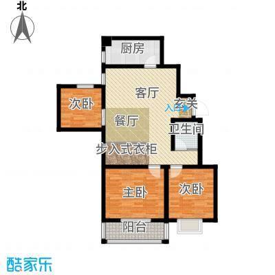 千泓花苑94.16㎡图为户型3室1厅1卫1厨