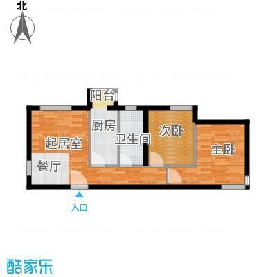 天和林溪69.89㎡A4户型2室2厅1卫