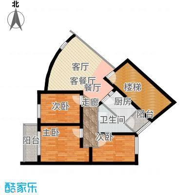 鼎秀风林91.84㎡QIANGXIAN户型3室1厅1卫1厨