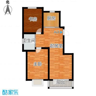 津滨藏锦98.00㎡2-K户型2室2厅1卫