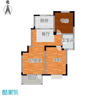 津滨藏锦104.00㎡2-L户型2室2厅1卫