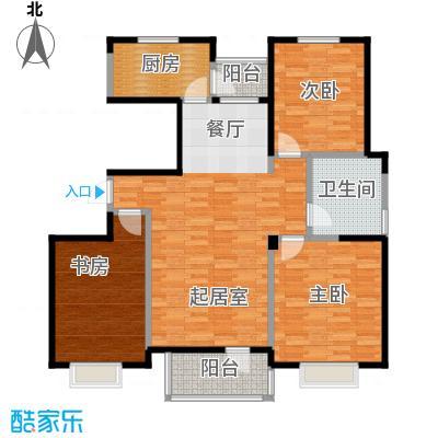 津滨藏锦130.00㎡3-K户型3室2厅1卫