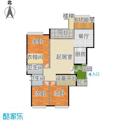 御城华府152.50㎡4/6/8号楼户型3室2卫1厨