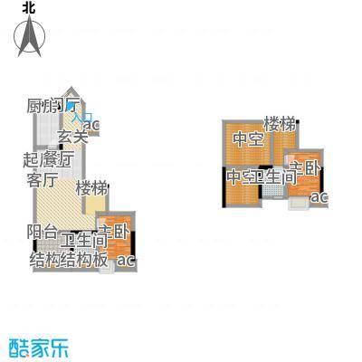 融汇温泉城85.09㎡融汇温泉城户型图复式-套内面积约85平方米(1/1张)户型10室