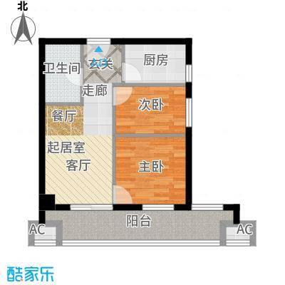 莱安逸境62.00㎡莱安逸境户型图5号楼B3户型两室一厅(5/16张)户型10室