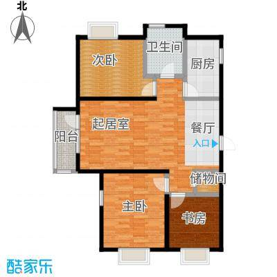 中建御景华庭115.00㎡A户型3室2厅1卫