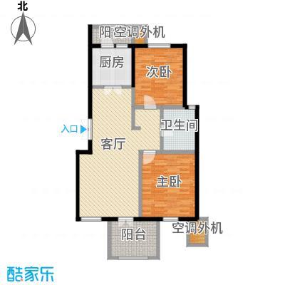 万通生态城新新家园108.13㎡二期B2a户型2室2厅1卫