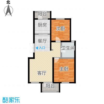 万通生态城新新家园104.61㎡二期B2c户型2室2厅1卫