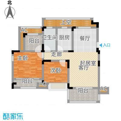 心泊馨城101.61㎡s5户型3室2厅2卫