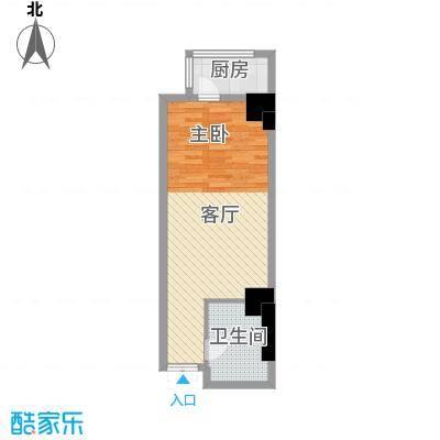 大明宫寓52.00㎡户型1厅1卫1厨